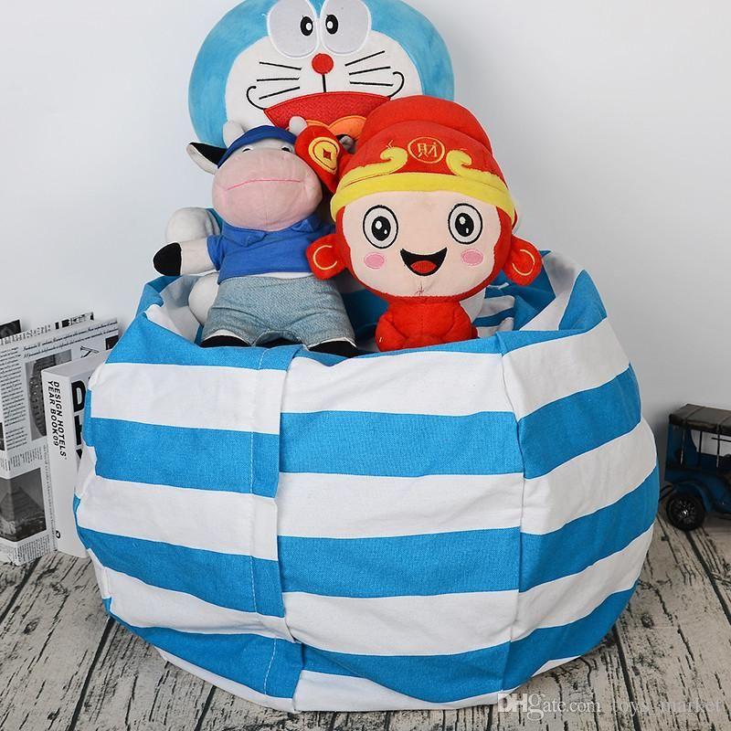 Tremendous Stuffed Animal Storage Bean Bag Chair 67 45Cm Portable Kids Toy Organizer Play Mat Clothes Home Organizers Theyellowbook Wood Chair Design Ideas Theyellowbookinfo
