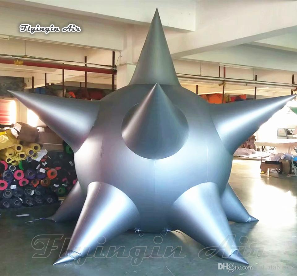 Customized Outdoor Parade Props Helium Inflatable Star Balloon 3.5m Multicolor Giant Hot Air PVC Balloon For Event