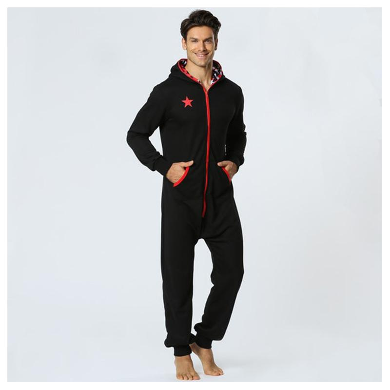 455f5c94c067 2019 Centuryestar Men Onepiece Pajamas Onesie Sleep Lounge Sleepwear One  Piece Pyjamas Male Sleepsuits Hooded Onesie For Adults Men From Qackwang