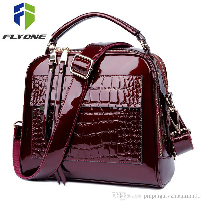 40be3815b256 FLYONE Bag Brand Women Handbags Crocodile Leather Fashion Shopper Tote Bag  Female Luxury Shoulder Bags Handbag Bolsa Feminina Cheap Handbags Cheap  Purses ...