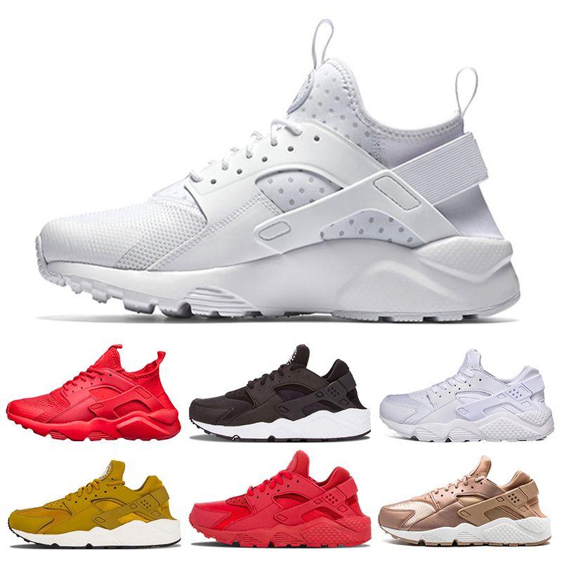 c936bcd61872 New Huarache 4.0 1.0 Mens Womens Running Shoes Triple Black Huaraches  Breathable Trainers Sneaker Shoes Size 36-45 Huarache 4.0 1.0 Mens Shoes  Running Shoes ...