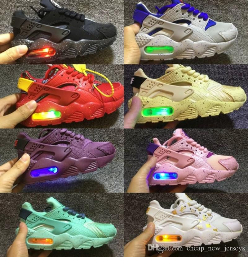 24894d3862a07 Air Huarache Ultra Kids Running Shoes Infant Children Huaraches Sneakers  Huraches Designer Hurache Casual Baby Boys Girls Red Trainers 28 35 Cheap  Shoes Men ...