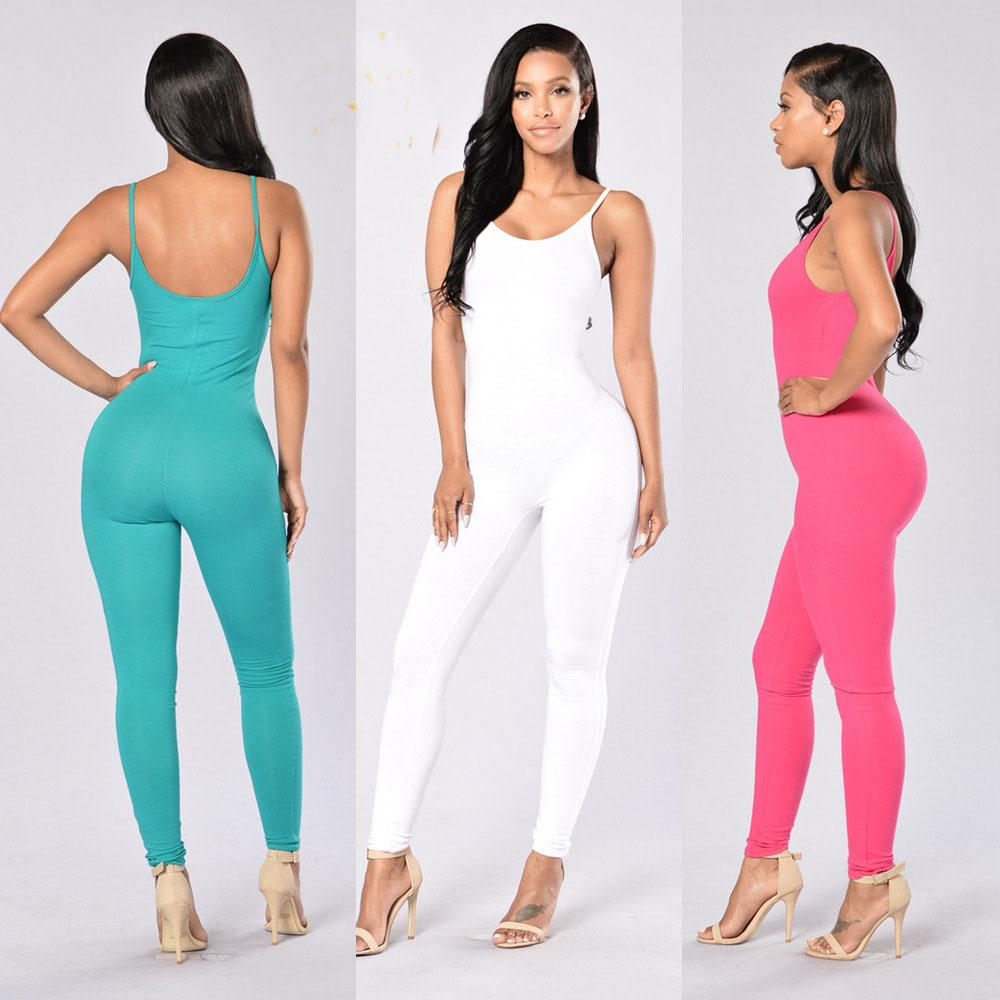 98aafdcf1b3c 2019 Womens Spaghetti Strap Sleeveless Bodycon Tank One Piece Jumpsuits  Rompers Playsuit Casual Jumpsuit Romper 11 Colour Select C3 1 2011 From  Jiehan shop