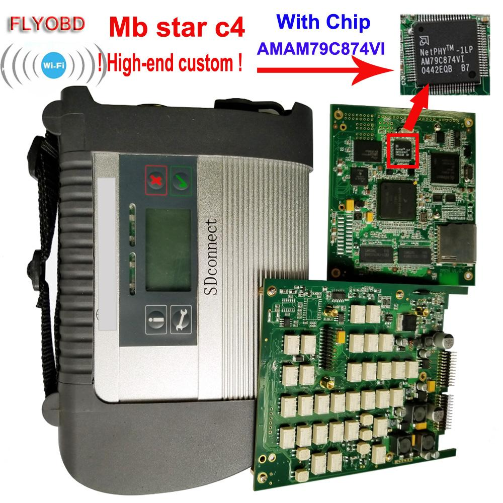 2018 Best Quality Star C4 with ADG426 & AM79C874VI Chip MB STzAR SD Connect C4 Compact 4 Diagnostic Tool with WIFI Function