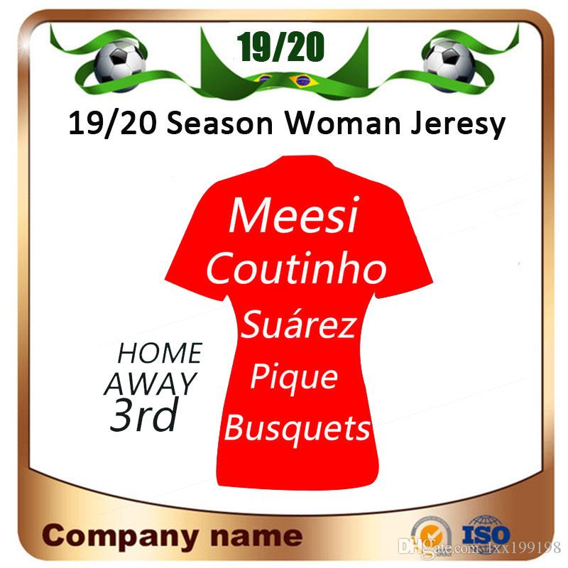 finest selection 003dc 31cb2 2019 MESSI Women Soccer Jersey 19/20 SUAREZ PIQUE A.INIESTA Home Away Girl  Jersey RAKITIC RAFINHA Football Shirts Lady Uniforms