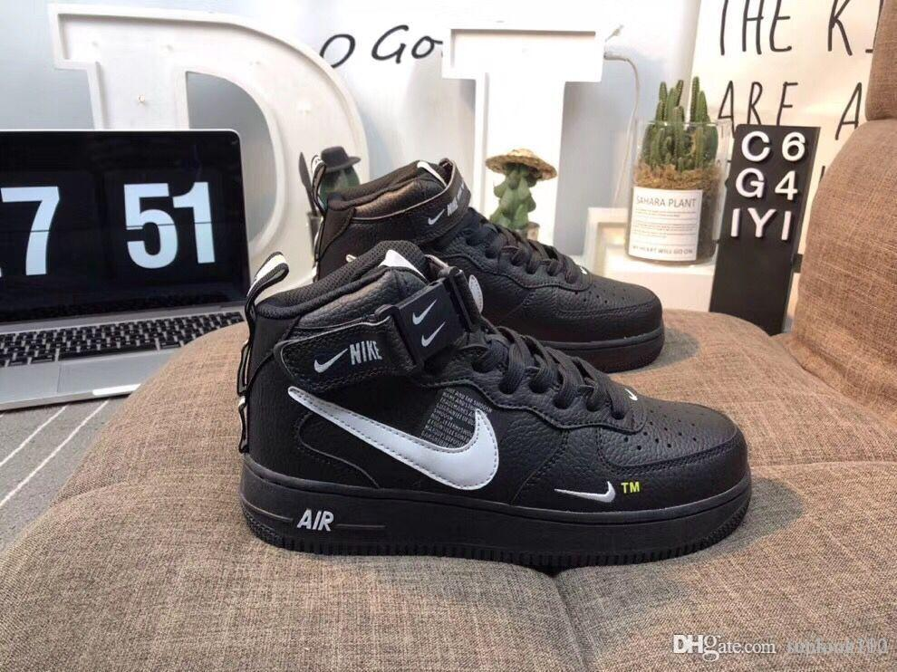 énorme inventaire 5f6bb c36a3 nike air force 1 one 2019 pas cher 1 Utility Classic Noir Blanc Dunk Hommes  Femmes Casual Chaussures rouge one Sports Skateboarding Haute Basse Coupe  ...