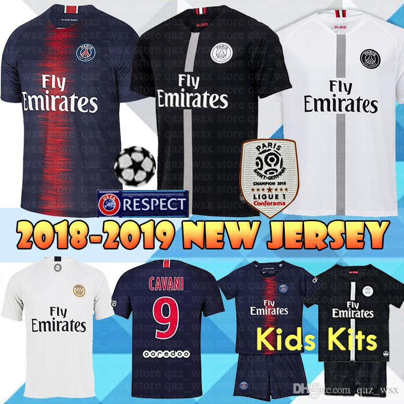 76451ceca 18 19 Paris Saint Germain PSG Jersey Men Kids Kits Women 7 Mbappe 9 ...