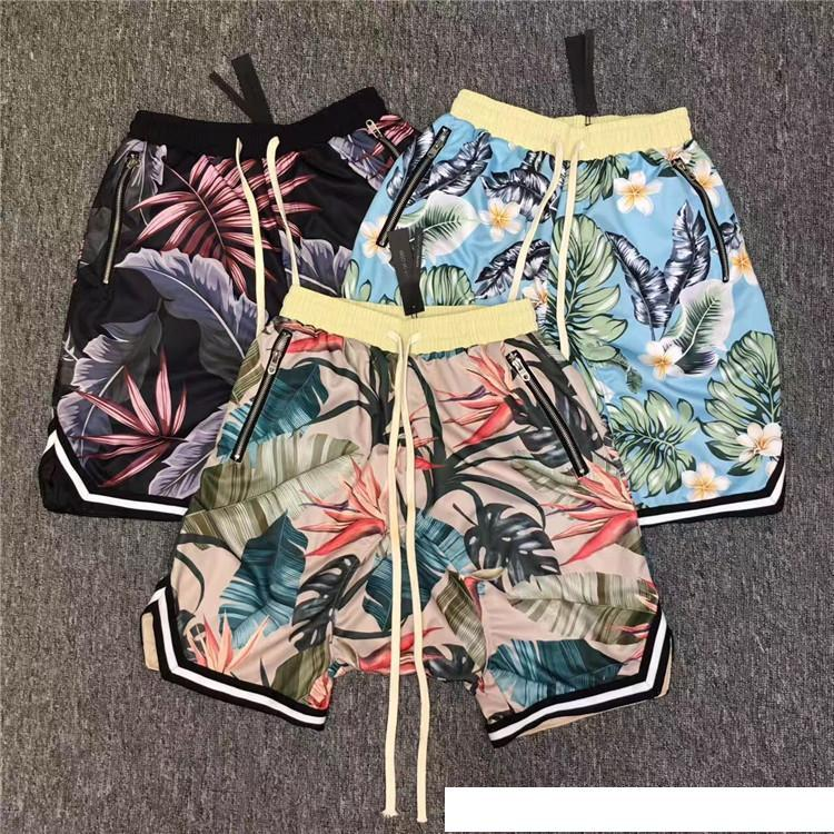 Pantalones cortos Fear Of God 2017 New Floral The 1987 Collection Justine Bieber fearofgod Shorts de malla de playa Estilo de verano Shorts Fear Of God