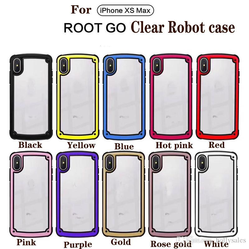 New Quality Root Go Clear bumper Case Shockproof Cover robot cases For Huawei P20 P30 Lite samsung s10 plus iphone xs max hybrid Case