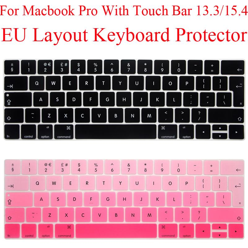 the best attitude 5030a 23d65 EU Keyboard Protector for Macbook Pro 13 13.3 Touch bar Silicone Keyboard  Cover MacbookPro 15 15.4 With TouchBar Protection Skin