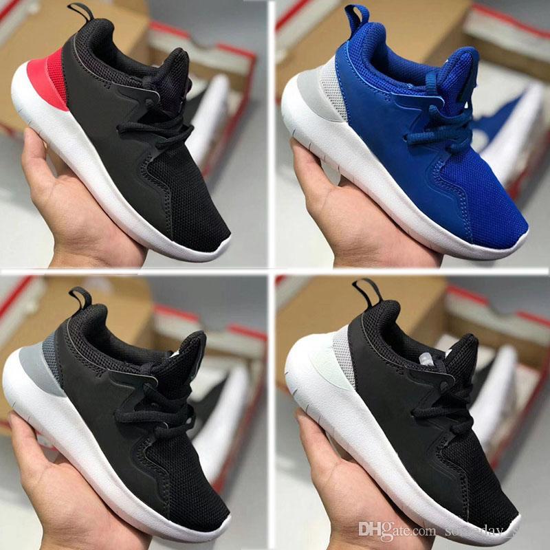 6c933fed5 Compre Nike Roshe Run TANJUN Kids London Platinum Zapatillas Gris Blanco  Rainbow Infant Children Deportes Designe Zapatos Niño Entrenador Niño Niña  ...