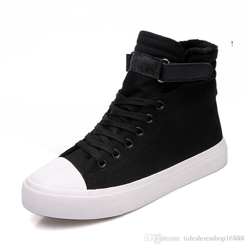 Men's Shoes Shoes Wen White Black Casual Shoes Mens Womens Sneakers Unisex 35-49 Size High Top Canvas Shoes Flats Vulcanized Shoes Plus Size 48 49 Moderate Cost