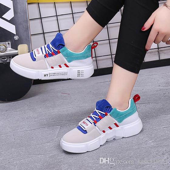 62698f222d8431 Spring Summer Female Trend Footwear Green Gray Low Top Flat Heel ...