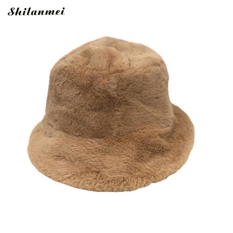 c769c141eea 2018 Autumn All-Match New Pattern Flat Plush Hat Woman Solid Color Keep  Warm Fashion Fisherman Hat Cap Hats Fashion Bucket Hats Cheap Bucket Hats  2018 ...