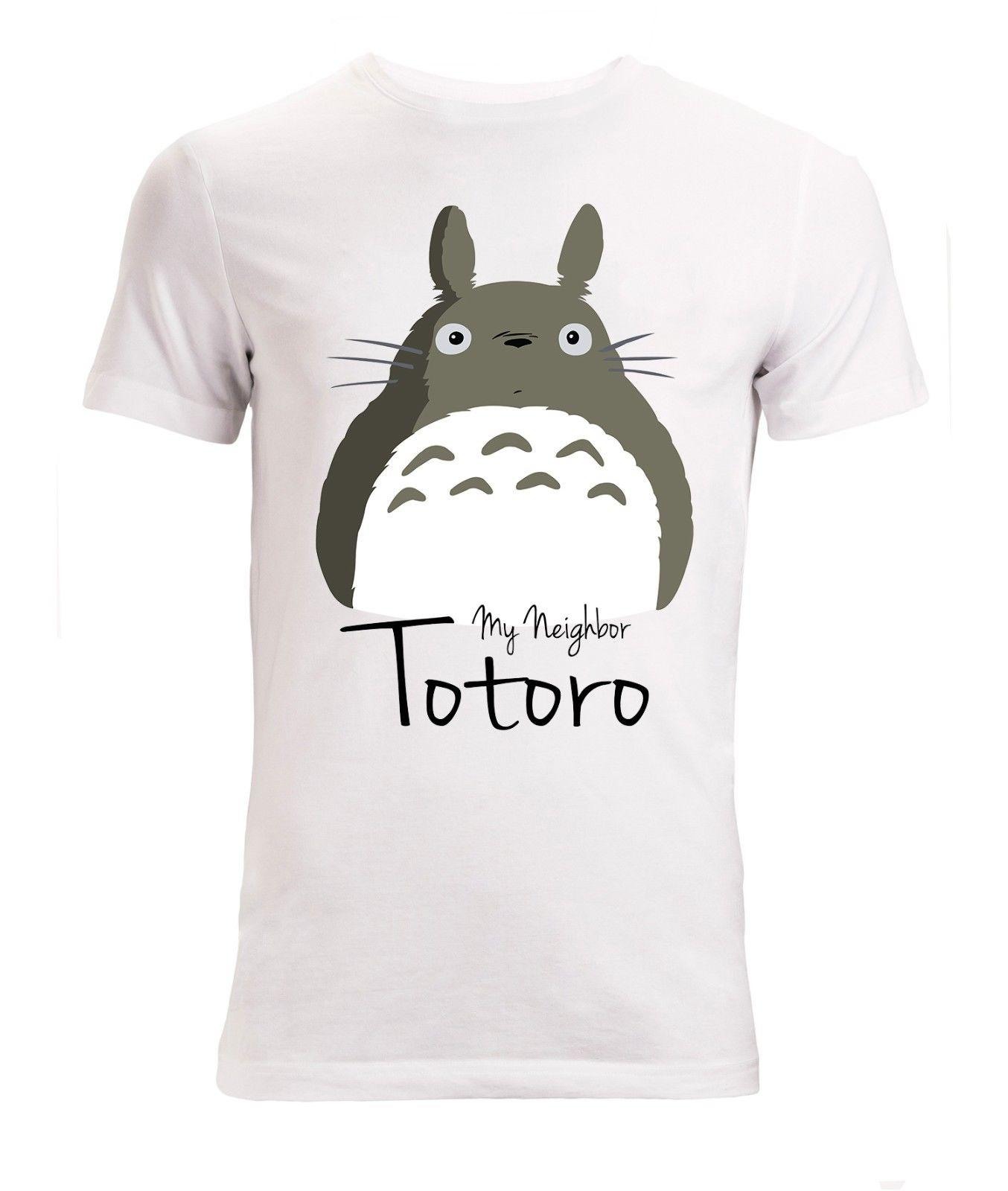 064fcce7f7be5 My Neighbor Totoro Cute Grey Art Stylish men's (woman's available) t shirt  white Funny free shipping Unisex Casual Tshirt top