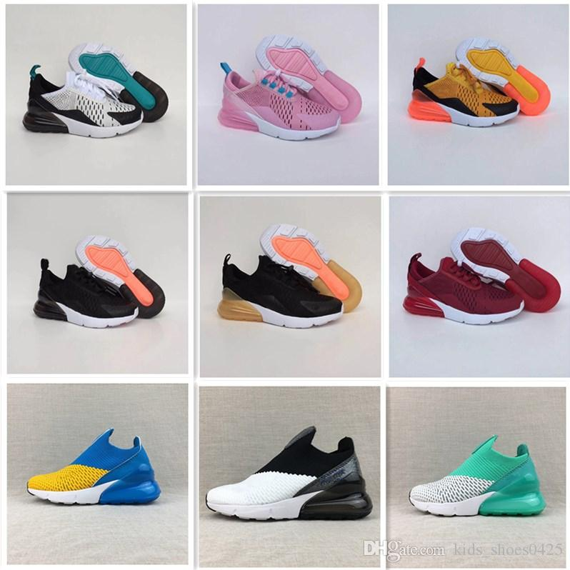 Nike air max 270 Vente chaude Enfants Garçons Chaussures Chanceux Pas Cher Ventes Top Qualité Sports chaussures de basket ball livraison gratuite