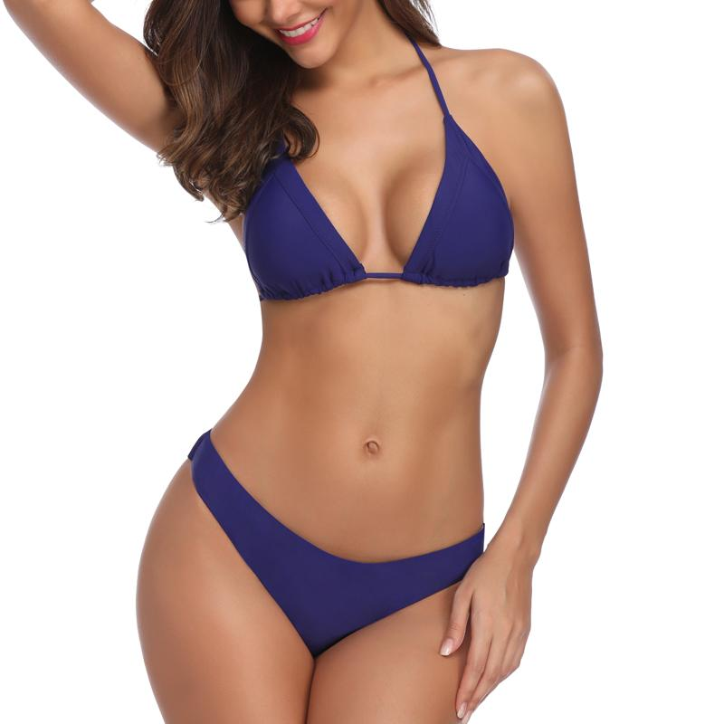 c2e3a34cfbe 2019 Bikinis Set 2019 Solid Swimsuits New Sexy Swimwear Women Halter  Bathing Suits Brazilian Bikinis Summer Beach Wear From Frenzen, $24.93 |  DHgate.Com