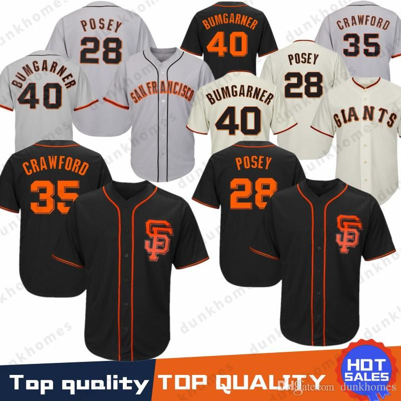 premium selection 7afa6 d0dac San Francisco Baseball Giants Jersey 28 22 Will Clark 35 Brandon Crawford  40 Madison Bumgarner Jerseys 2019 Top quality