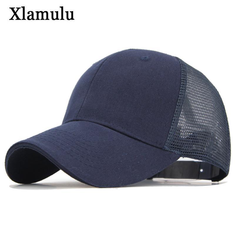 eb146733c Xlamulu Baseball Caps Summer Hat Women Snapback Sun Hats For Men Casquette  Bone Gorras Sports Baseball Hats Visor Solid Male Cap
