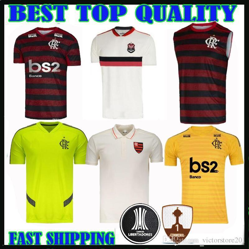 19 20 Flamengo Soccer Jerseys 2019 2020 de Arrascaeta 10 DIEGO Vitinho AWAY Goalkeeper vest tank top man women polo Training Football shirts