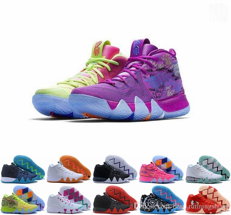 official photos 4ee61 38176 2019 Kyrie Irving 4s Kyrie Lucky Charms Zapatos De Baloncesto Irving 4 IV De  Alta Calidad Confeti De Color Verde Diseñador Entrenadores Zapatillas 40 46  Por ...