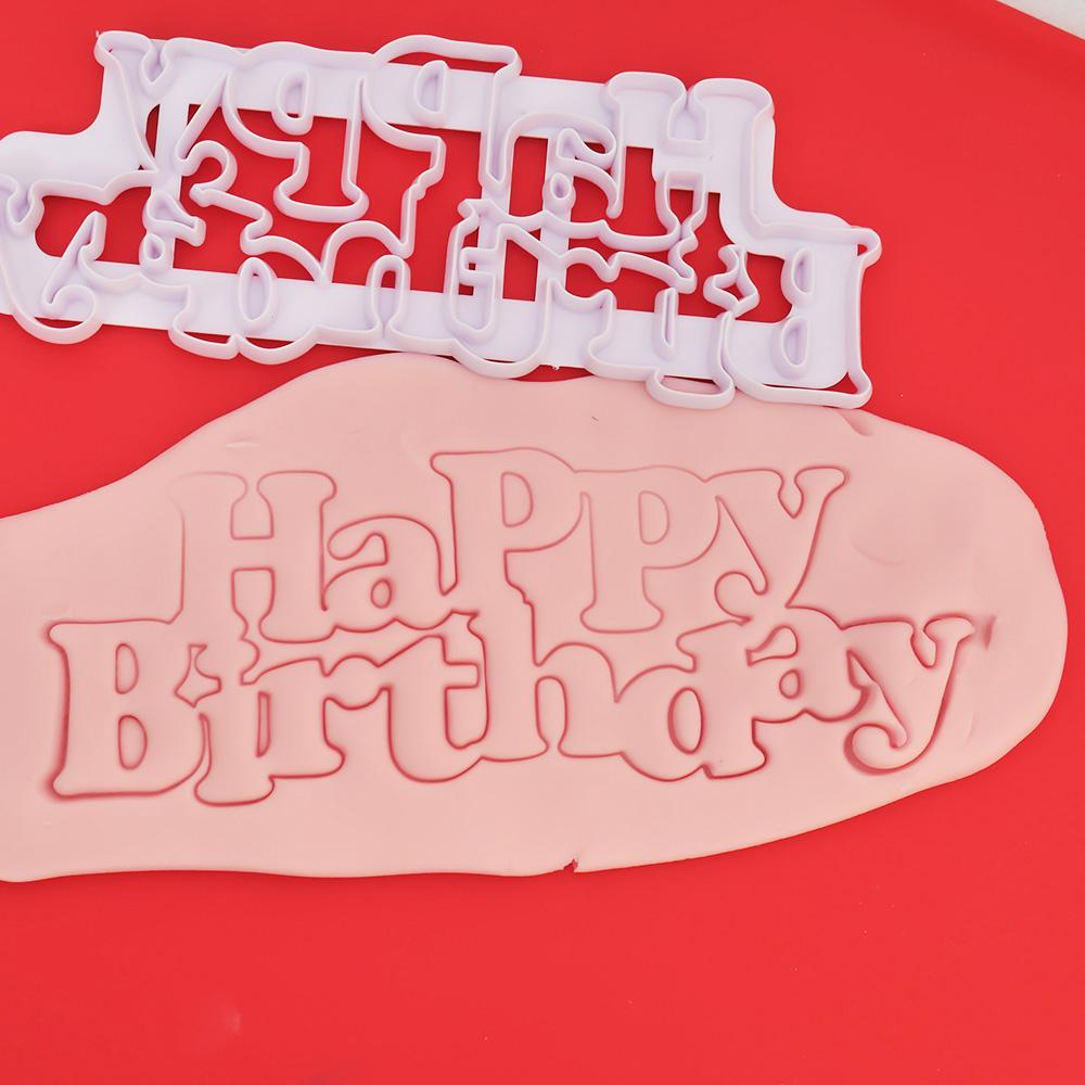 2019 333 LIMITOOLS Happy Birthday Plastic Candy Stencils Biscuits Cookie Cutter Mold Cake Fondant Decoration Tools From Carmlin 3255