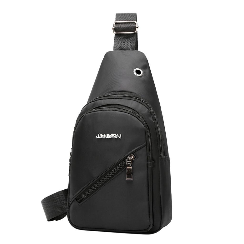 6becdad2b76 Shoulder Bags For Men Fashion Outdoor Solid Versatile Travel Shoulder Bag  Strap Messenger Bag Chest 2019
