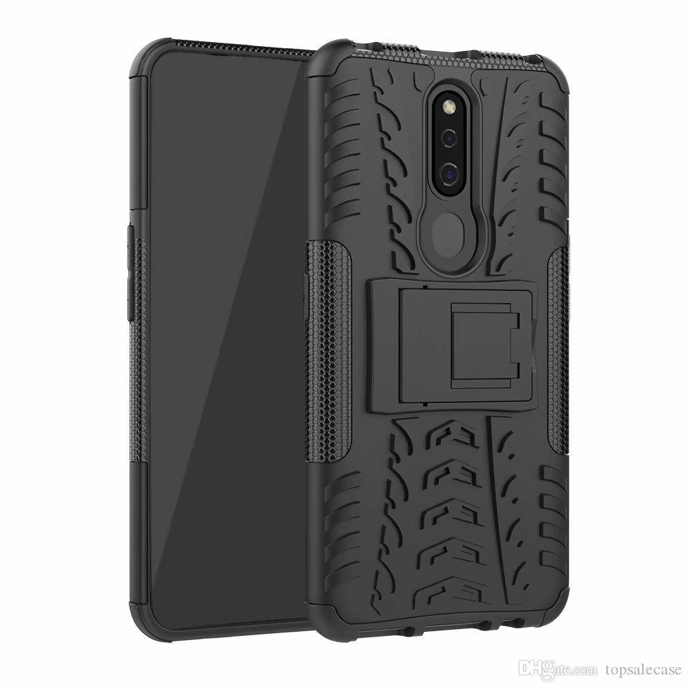 For Oppo F11 Pro Case Quality Stand Rugged Combo Hybrid Armor Bracket Impact Holster Protective Cover For Oppo F11 Pro