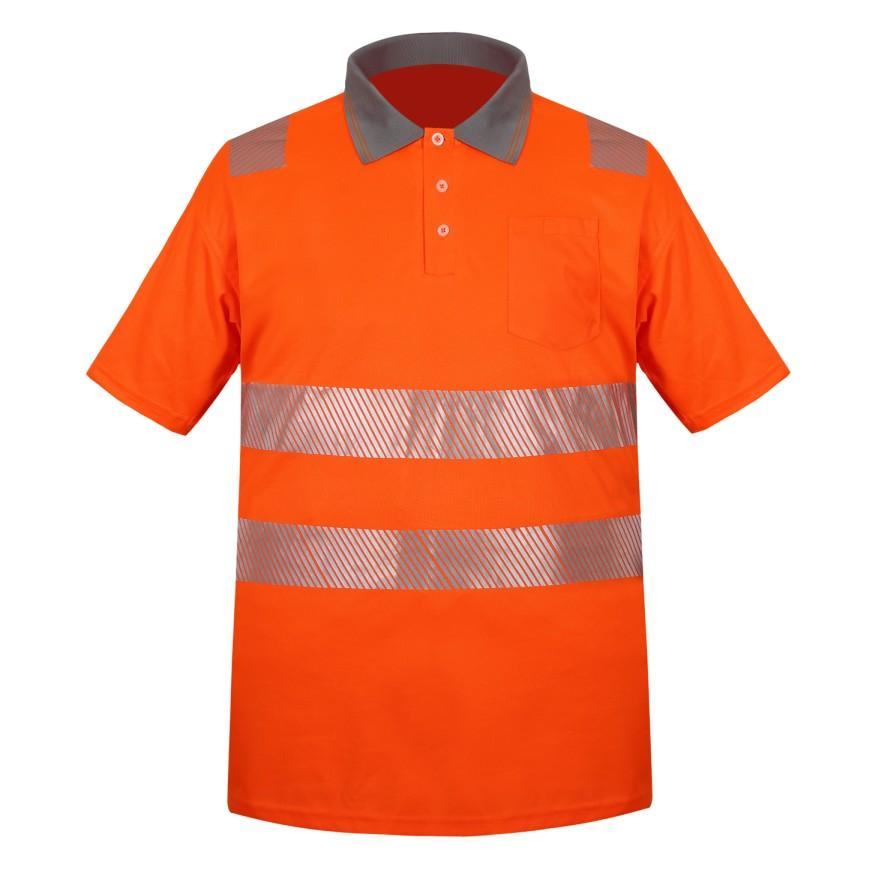 outdoor safety working 100% polyester reflective T-shirt