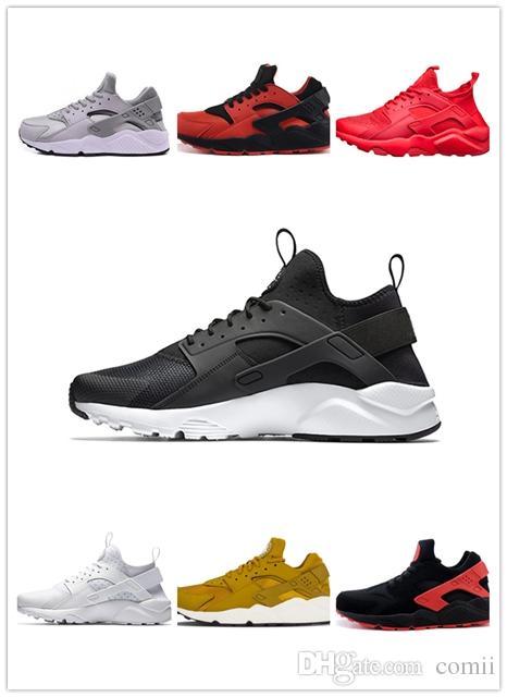 save off 1bf2d 72134 Großhandel 2019 Huarache Ultra Run Schuhe Dreifach Weiß Schwarz Herren  Damen Laufschuhe Rot Grau Huaraches Herren Trainer Sportschuhe Sneakers  Größe 40 45 ...