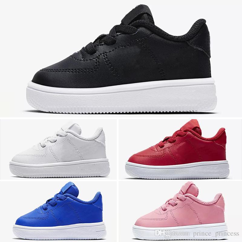 12b9733d4 Compre Nike Air Max Force Fly 2019 Nuevas Fuerzas Para Niños Low Cut One 1  Zapatos Niño Niña Todo Blanco Negro Dunk Forzado 1s Calzado Deportivo  Zapatillas ...
