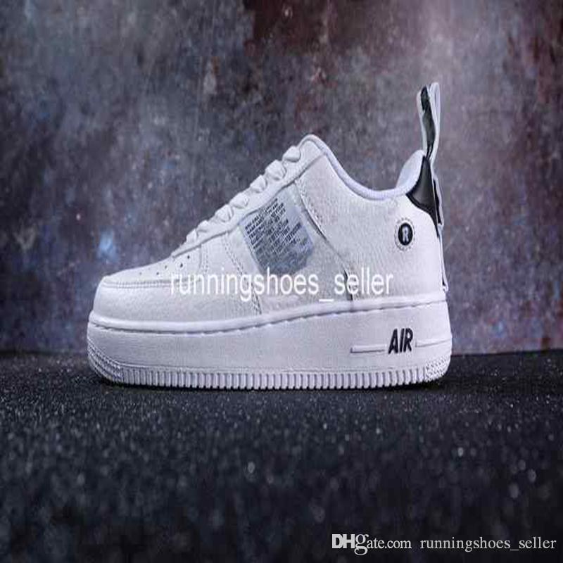 cheap for discount 46023 6e97a Acheter 2019 Chaussures Forces Low 07 LV8 Utility Chaussures De Course Pour  Homme Volt Blanc Air Just Faire 1 Skate Designer It Sneaker5.5 11 De  81.71  Du ...