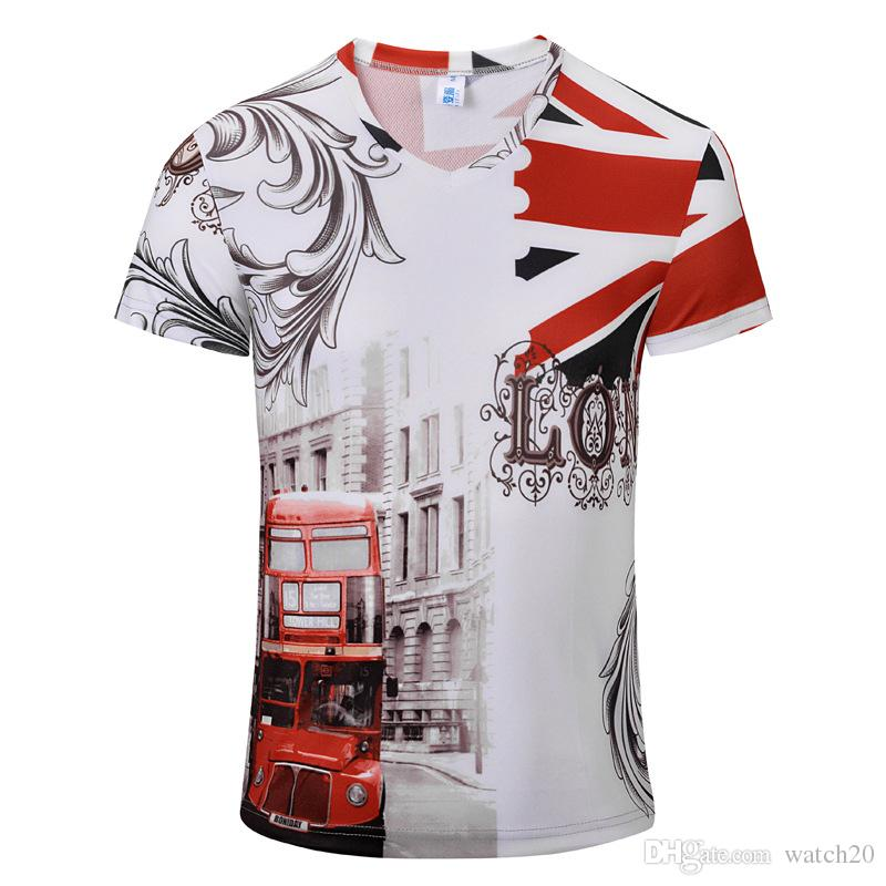 Men's Fans Tees Retro Digital Print Outdoor Sport Casual T-Shirt Fashion Beach Vacation Travel Tees Comfortable Sport T-Shirts