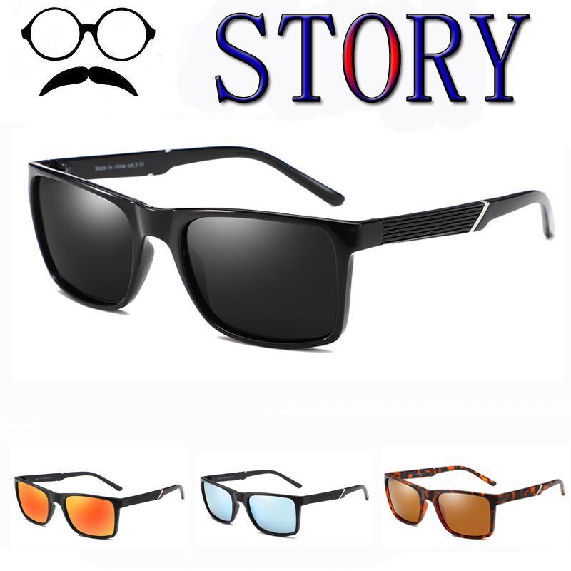 0b95ab2dd Compre Clássico Polarizada Armação Quadrada Óculos De Sol Das Mulheres Dos  Homens De Condução De Alta Qualidade Masculino Óculos De Proteção UV400  Óculos De ...