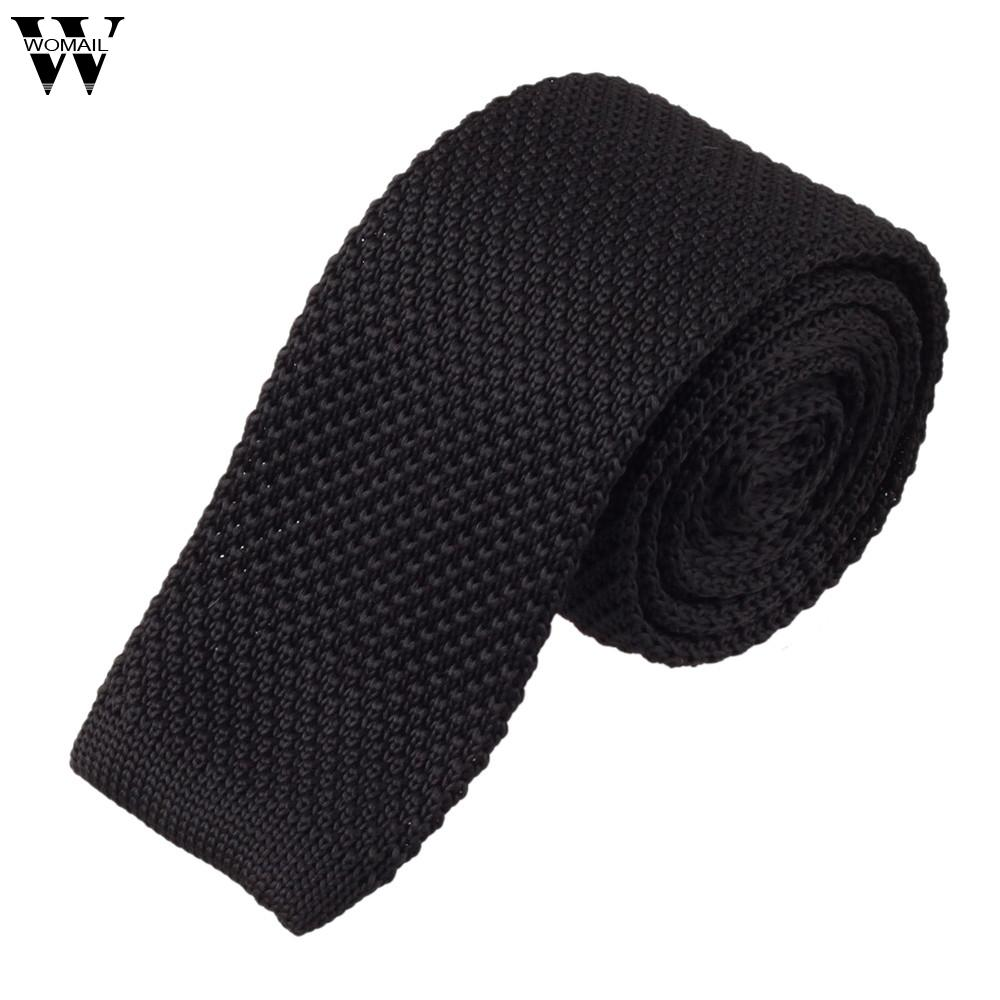 Ties For Men 1PC Mens Fashion Men Knit Knitted Tie Necktie Neck Narrow Casual Slim Skinny Woven Tie 2018 Nov16