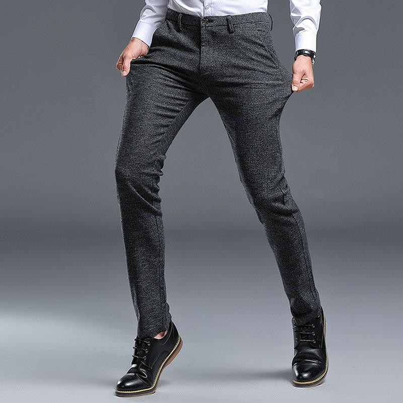 Pantalones De Vestir Formales Para Hombre Pantalones Largos