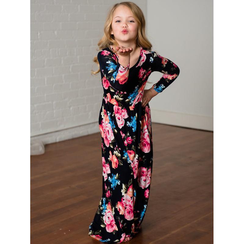 Yeni anne kızı Elbiseler Yaz Aile Eşleştirme Elbise Anne kızı Elbise 2018 Aile Giyim Kız Elbise Çocuk Kıyafet