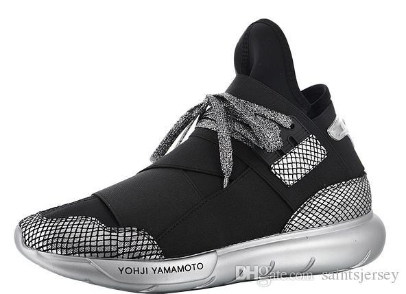 ee0d19c25 2019 With Box YohjiYamamoto Qasa High Sneakers For Mens Trainers Male  Yamamoto Running Shoes Womens Sneaker Female Jogging Shoe Yohji Chaussures  From ...