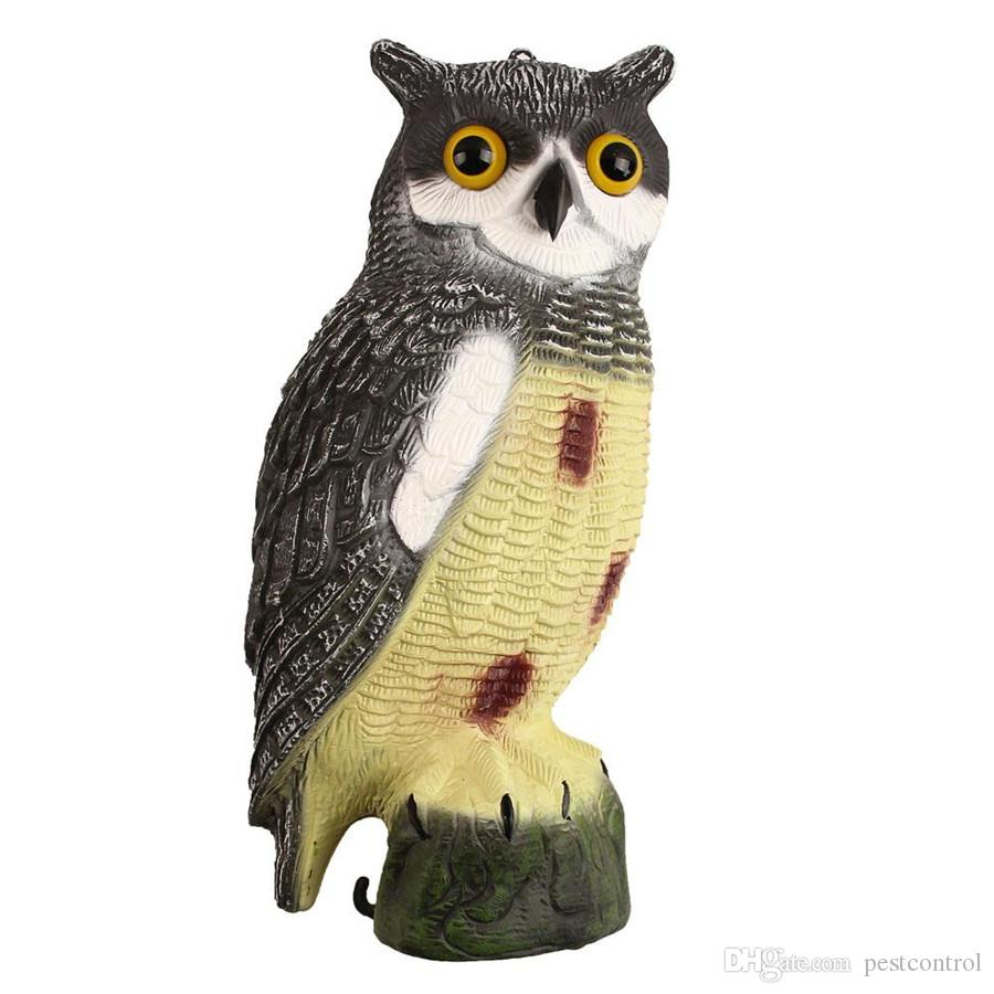 pestcontrol Carecrow Owl Decoy Statue by Realistic Fake Outdoor Pest Bird  Deterrent Hand-painted Garden Protector Scares Away Squirrels Pige