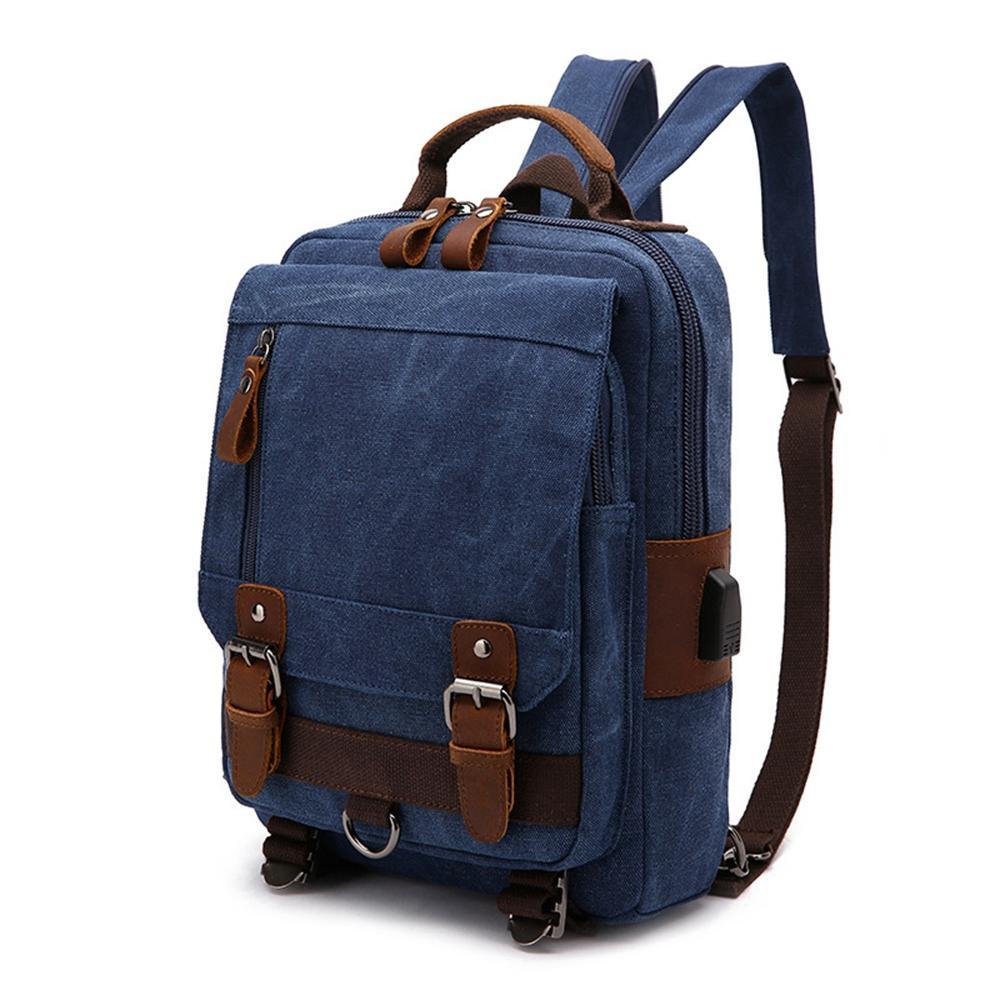 f5ae2bb7b6 New Casual Men S Backpack Vintage Canvas Backpack School Bag Men S Travel  Bags Large Capacity Travel Laptop Bag Best Backpack Designer Backpacks From  ...