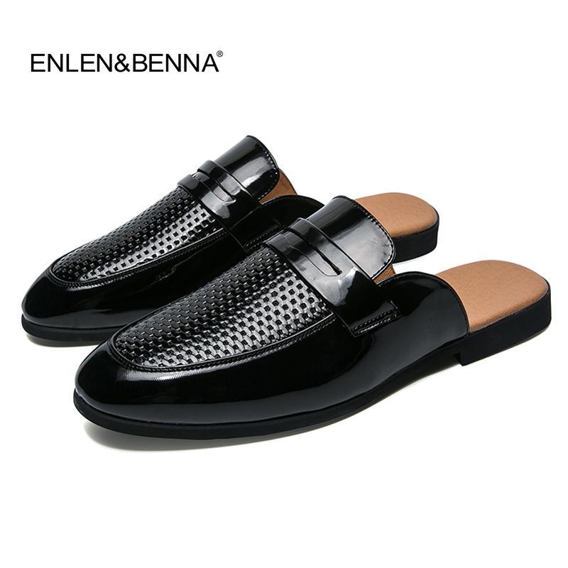 new style b27d8 c622d Acheter Hommes Sandales 2019 Nouvel Été Été Pantoufles Hommes Chaussures PU  Sandales De Plage En Cuir Causal Paresseux Glisser Diapositives Sur Tongs  ...