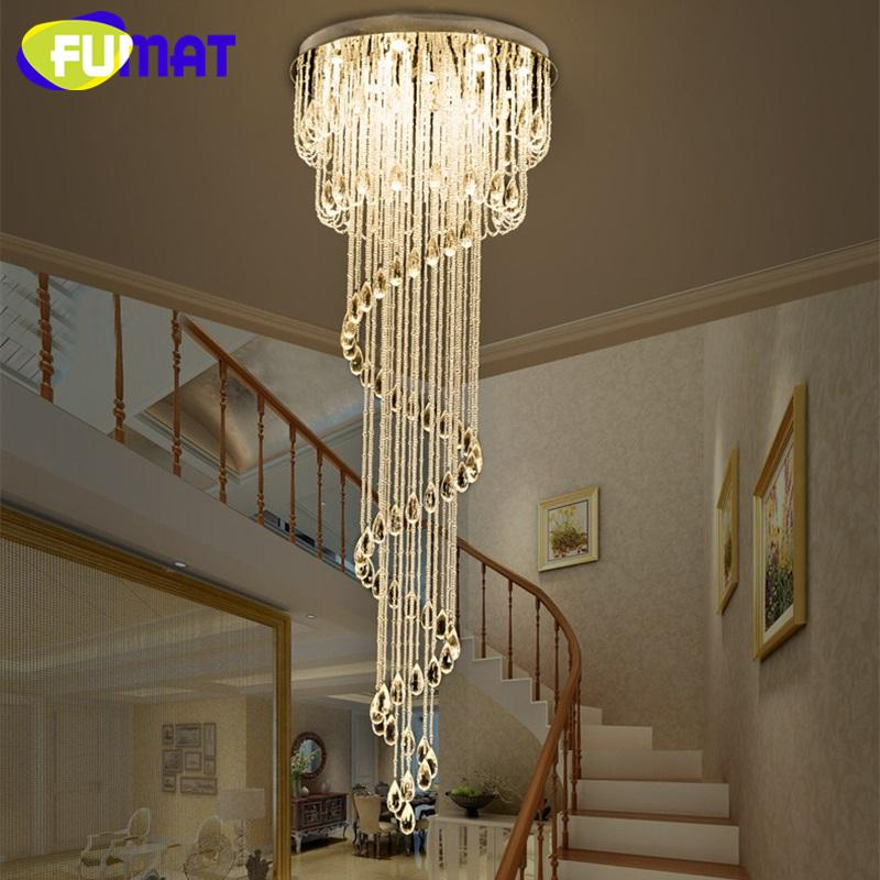 Captivating 2019 FUMAT Crystal K9 Stairway Ceiling Lamps Modern Villa Chandelier  Lighting GU10 LED Luxury Hanging Light Fixture Lamp Super Mall From  Crystalk9, ...