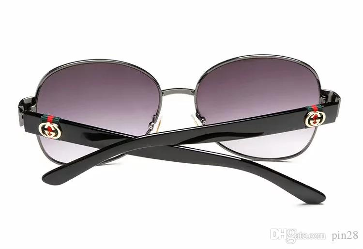 4242The name Designer brand new fashion high-end classic sunglasses attitude sunglasses gold frame square metal frame vintage style