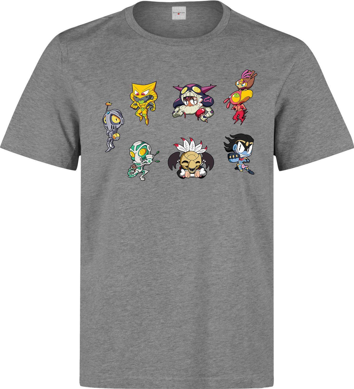 Jojos Bizarre Adventure Stardust Crusaders Cute Stands men s grey t shirt
