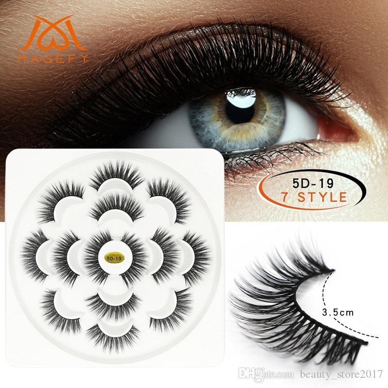 7f7223fd348 Lotus Shape 3D Mink Lashes Natural Long False Eyelashes Dramatic Volume Fake  Lashes 5D Makeup Eyelash Extension Longer Eyelashes Permanent Eyelash ...