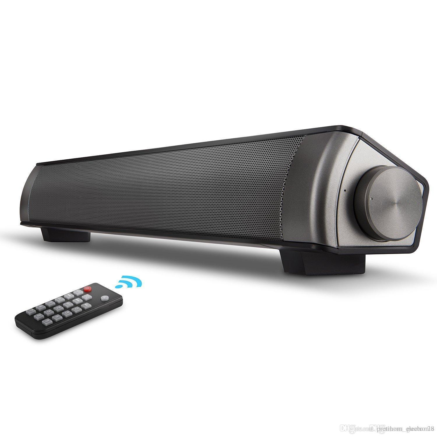 Soundbar Surround Sound Bar Home Theater System With Wired, TF Card,  Bluetooth Speaker - Wireless Sound Bar For TV, PC, Cellphone, Tablet