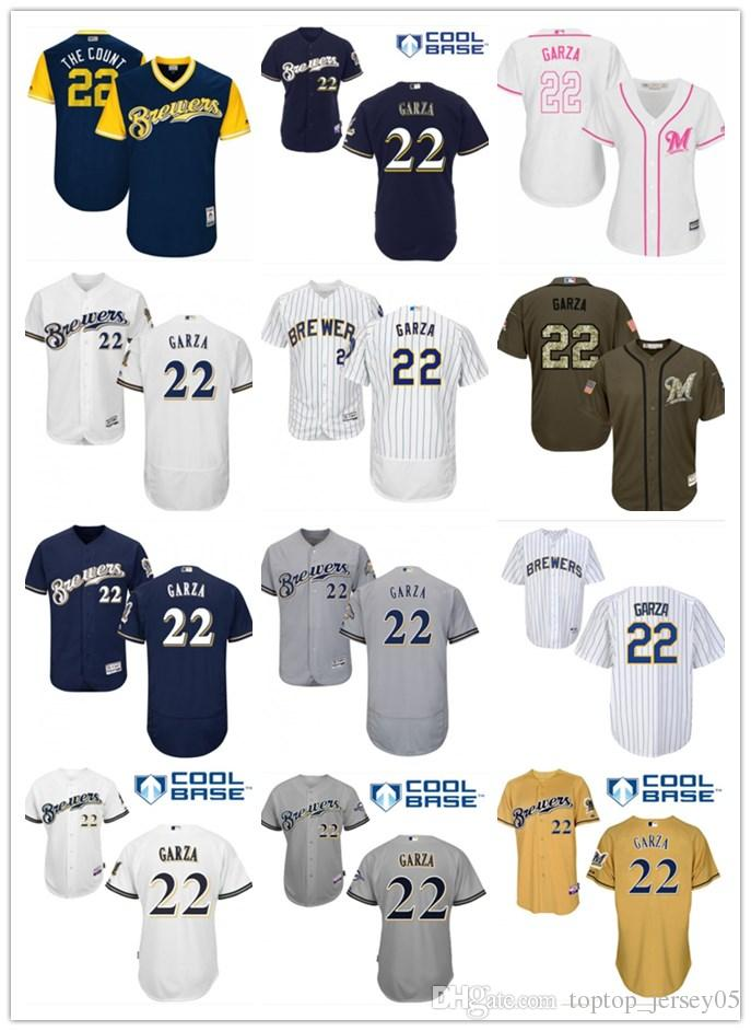 buy popular e7d30 57215 2018 top Milwaukee Brewers Jerseys #22 yelich Jerseys men#WOMEN#YOUTH#Men's  Baseball Jersey Majestic Stitched Professional sportswear