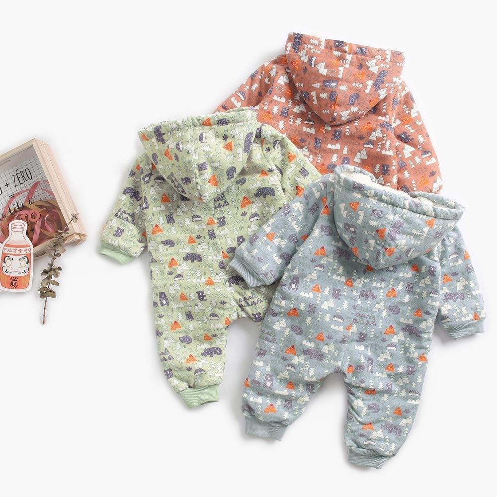 22c49f65b Autumn Winter Warm Baby Rompers Boys Clothes Coral Fleece Baby Girls ...