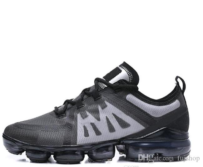0db1565f9c Compre Nike Air VaporMax Max Off White Flyknit Utility 20189 New Run Hombre  Mujer Zapatillas De Deporte De Moda Barato TN PLUS Triple Negro Blanco Azul  Oro ...