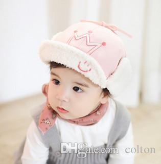 da5b883c078 2018 Children s Hat Thickened Thermal Cap Boys And Babies Ear Cap ...
